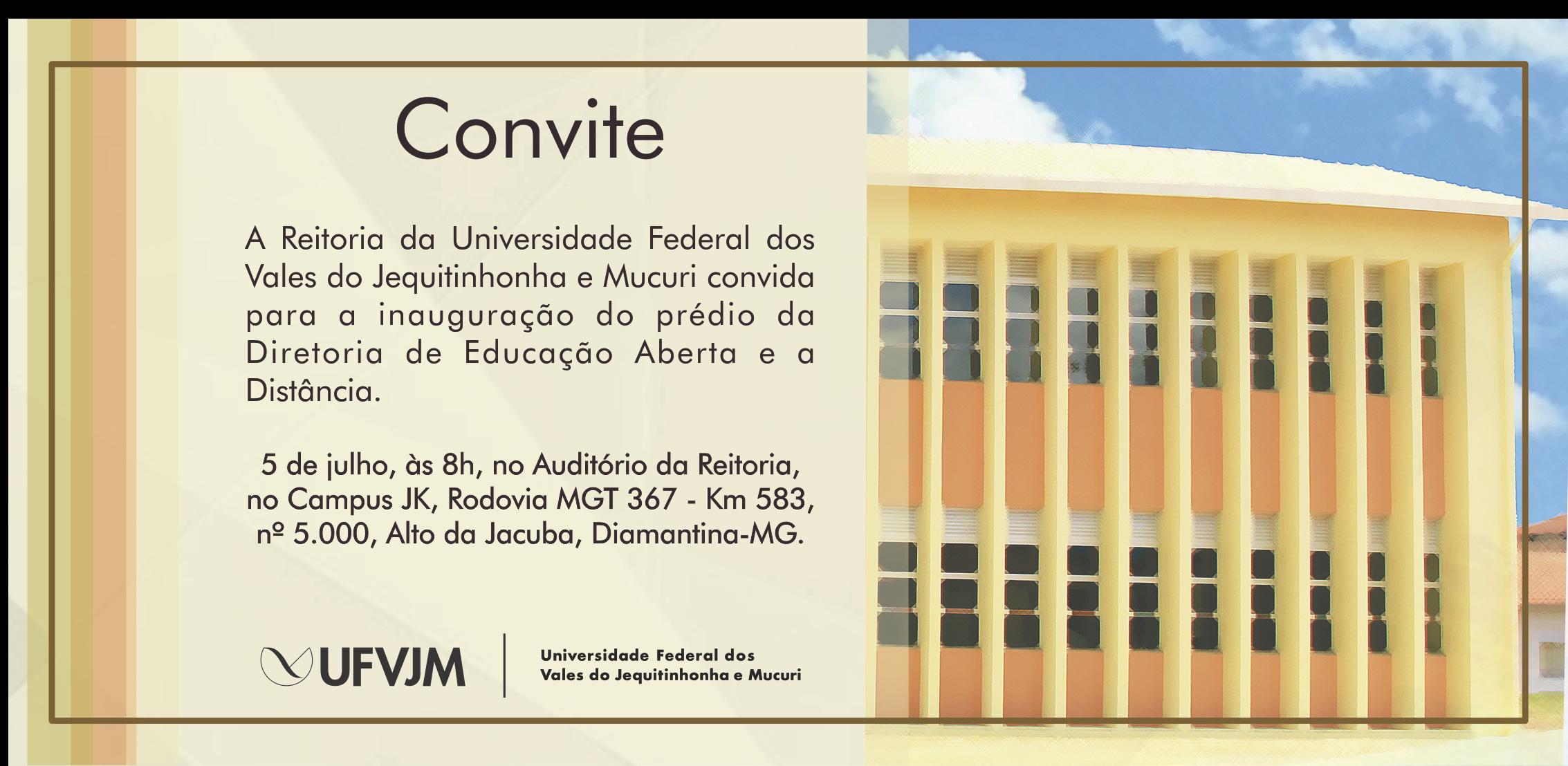Convite Inauguração Prédio DEAD